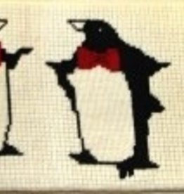 Canvas BOWTIE PENGUINS CUMMERBUND W50B