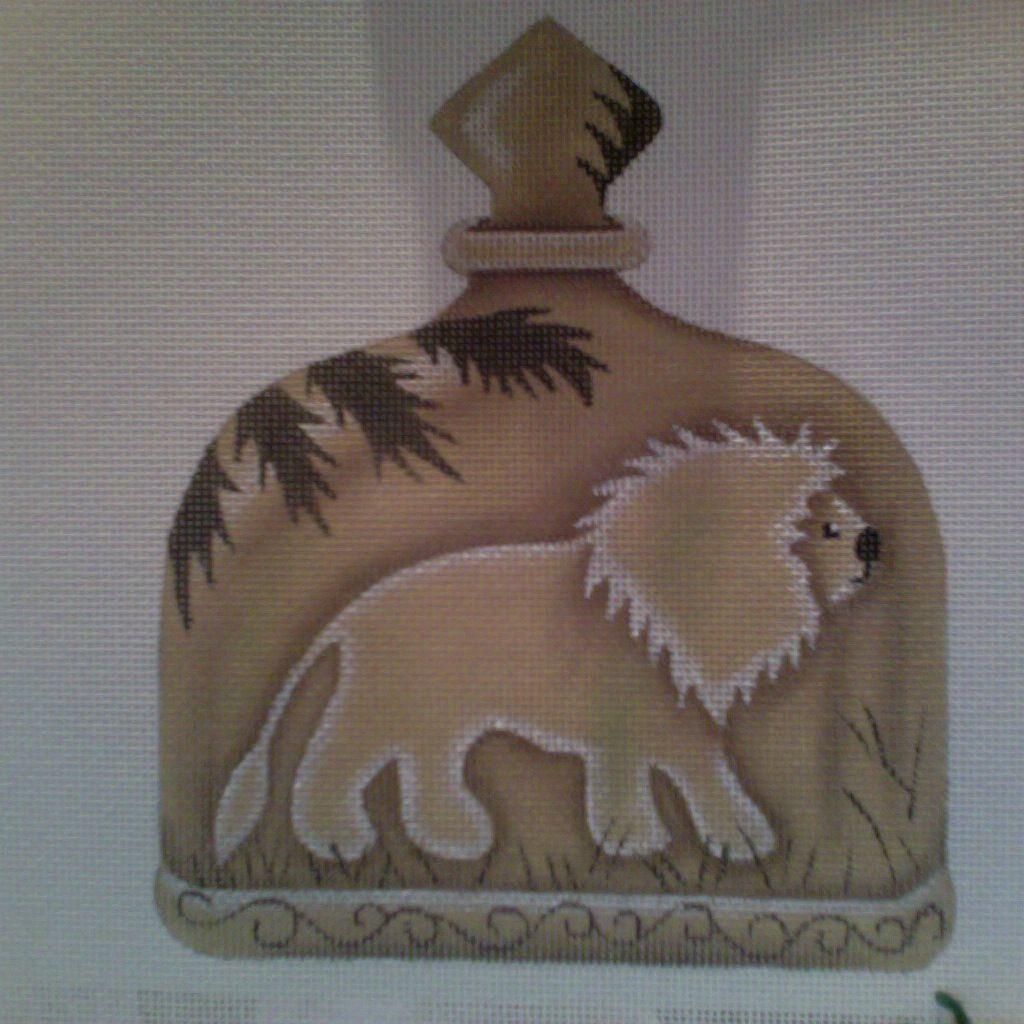 Canvas LION BOTTLE  A153 - SALE<br /> REG 44.00
