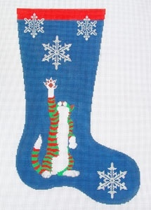 Canvas CAT WITH SNOWFLAKE  83