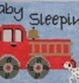 Canvas FIRE TRUCK BABY SLEEPING  DHG217