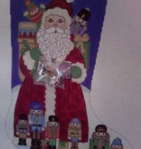 Canvas SANTA WITH NUTCRACKERS AND HOLDING CHARMS  7264
