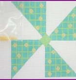 Canvas PINWHEEL TURQUOISE CHECK  LL194D