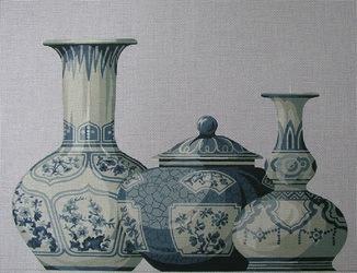 Canvas TRIO OF VASES  SB111A
