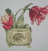 Canvas ELEPHANT VASE  SB141