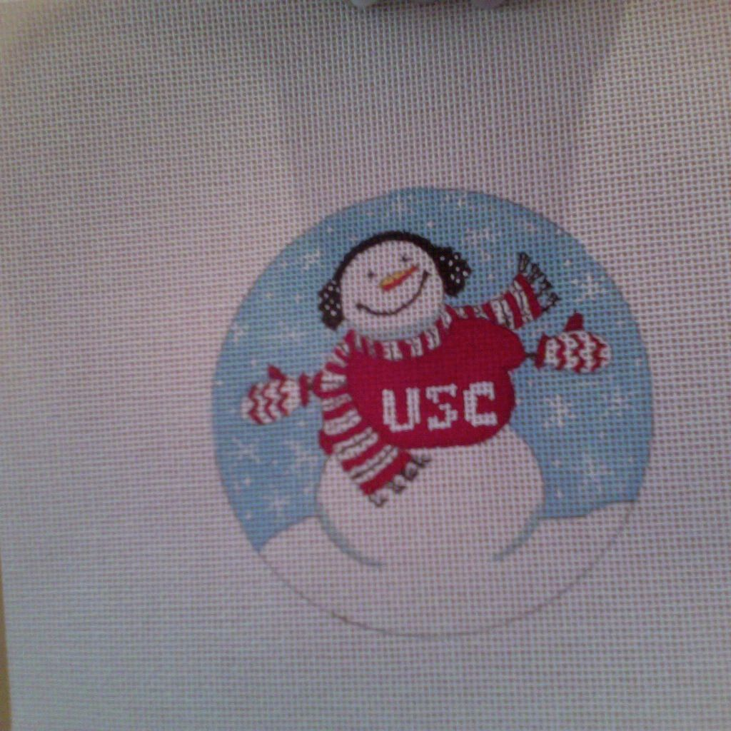 Canvas COLLEGIATE SNOWMAN  662