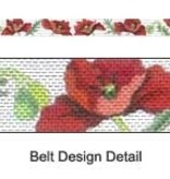 Canvas RED POPPIES BELT  185260