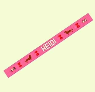 Canvas DACHSHUND DOG COLLAR  P7