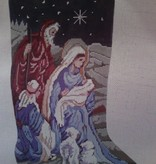 Canvas NATIVITY STOCKING  QRS52