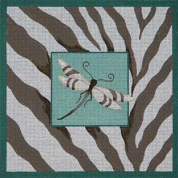 Canvas DRAGONFLY & ZEBRA SKIN  B038