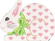 Canvas HEART SMALL BUNNY  CD318H