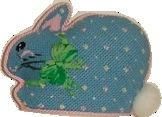 Canvas BLUE MINI BUNNY  CH310L
