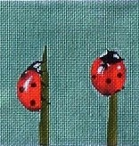 Canvas LADYBUGS ON TWIGS  A143