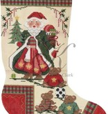Canvas SANTA & TEDDY BEARS  KCN168