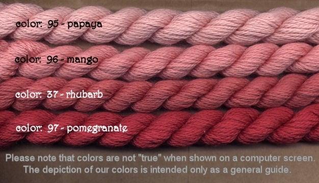 Fibers Silk and Ivory    RHUBARB