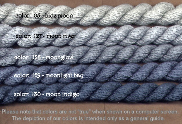 Fibers Silk and Ivory    MOON INDIGO