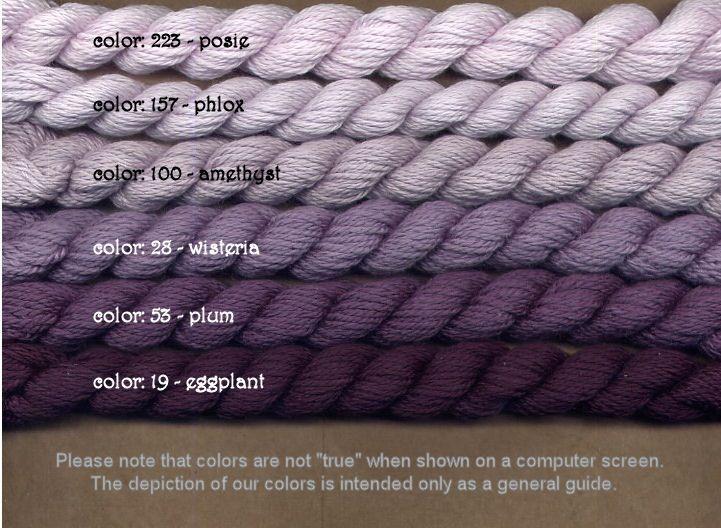 Fibers Silk and Ivory    EGGPLANT