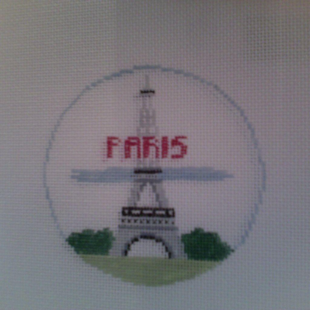 Canvas EIFFEL TOWER  PARIS ROUND  BT198