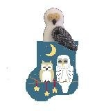Canvas STARRY NIGHT OWLS WITH OWL  CM560