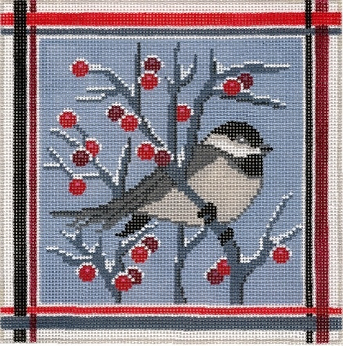 Canvas WINTER CHICKADEE  C877