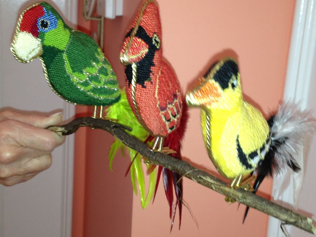 Canvas 3-D CLIP-ON BIRDS