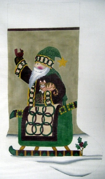 Canvas SANTA AND SLEIGH LK15