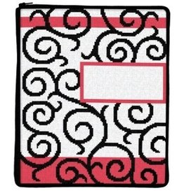 Canvas SCROLLS STITCH AND ZIP IPAD COVER SZ705