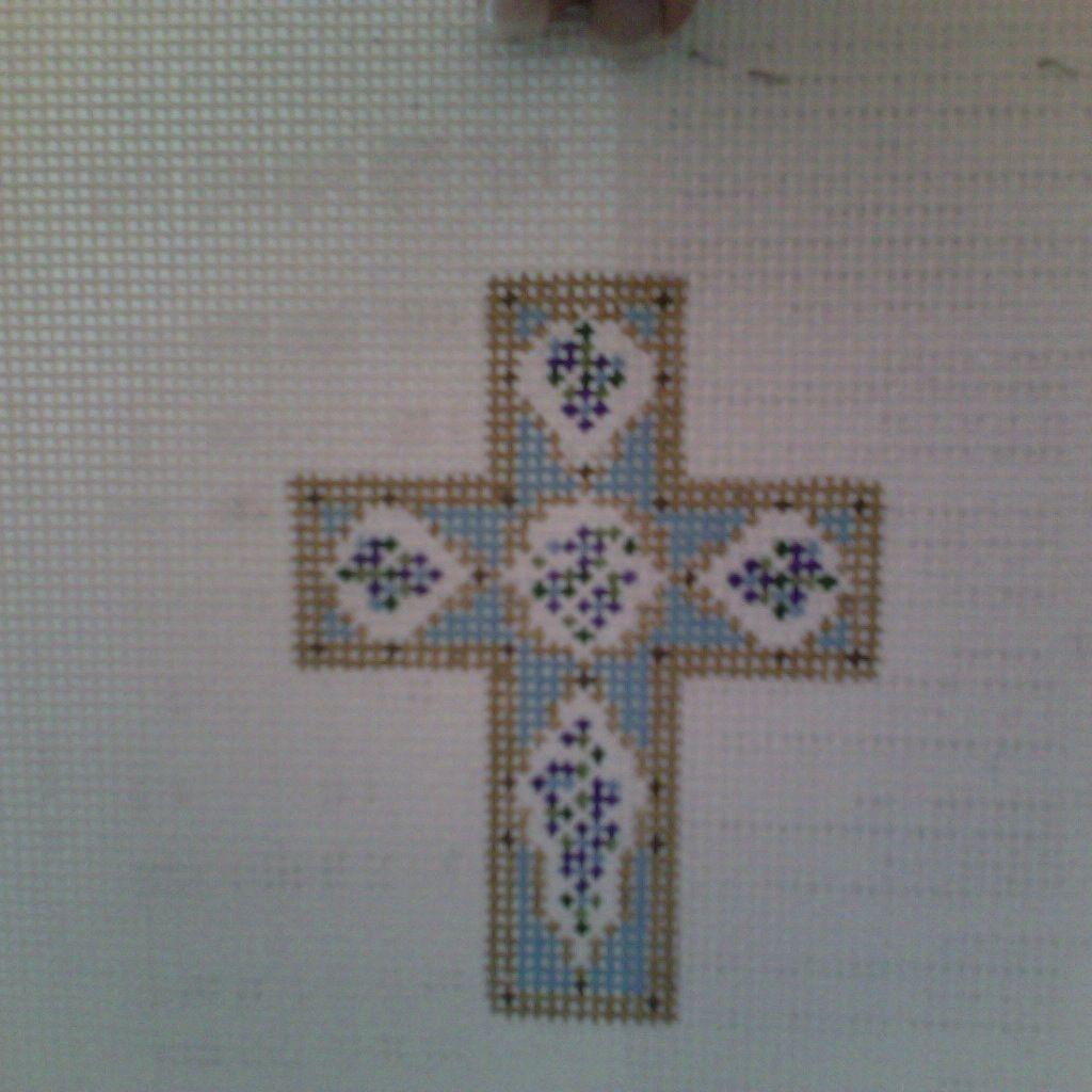 Canvas SMOKEY BLUE CROSS N1703