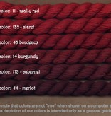 Fibers Silk and Ivory    REALLY RED