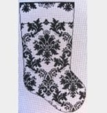 Canvas GG'S DAMASK STOCKING  WG12540
