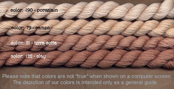 Fibers Silk and Ivory    TERRA COTTA