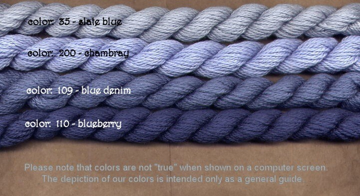 Fibers Silk and Ivory    BLUEBERRY