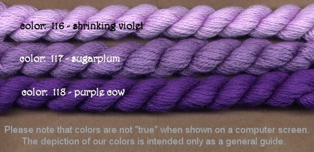 Fibers Silk and Ivory    PURPLE COW