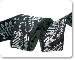 Accessories BLACK DINOSAURS RIBBON  N5422