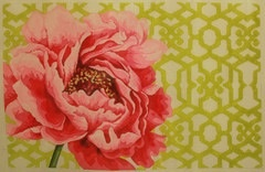 Canvas PEONY AND TRELLIS  KB380