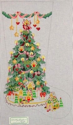 Canvas GINGERBREAD TREE GIRL  CS179