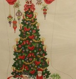 Canvas CHRISTAMS TREE WITH SANTAS  CS143