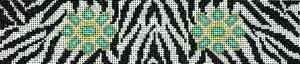 Canvas KEY FOB JEWEL ZEBRA K696