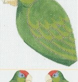 Canvas RED HEADED AMAZON  CLIP ON BIRD LL300T