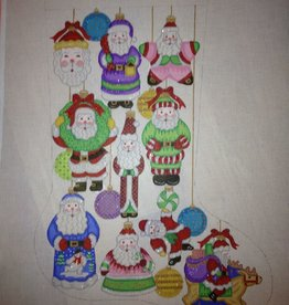 Canvas SANTA ORNAMENTS STOCKING  CS7276