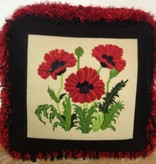 Canvas POPPIES PILLOW<br />FINISHING BY MARLENES