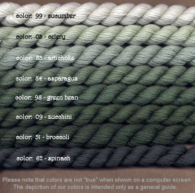 Fibers Silk and Ivory    GREEN BEAN
