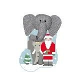 Canvas ELEPHANT WITH SANTA STUFFER  CM510