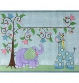 Canvas GIRAFFE AND ELEPHANT  3539