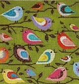 Canvas BIRDS OF A DIFFERENT COLOR ORNAMENT  X112