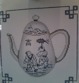 Canvas BLUE ORIENTAL TEAPOT  H705