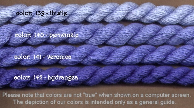 Fibers Silk and Ivory    PERIWINKLE