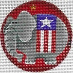 Canvas PATRIOTIC ELEPHANT  63D