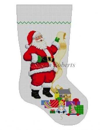 Canvas SANTA WITH LIST - GIRL 109