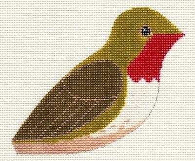 Canvas RUBY THROATED HUMMINGBIRD CLIP-ON BIRD LL306Q