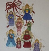 Canvas ANGEL ORNAMENTS  STOCKING CS7280